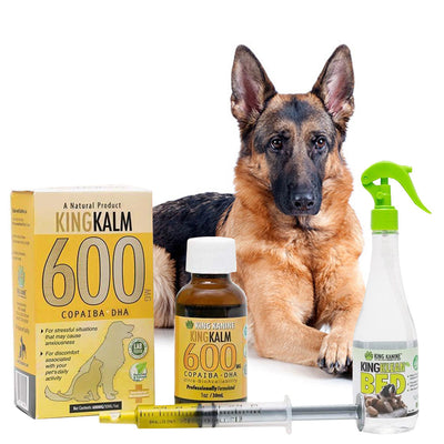 King Kalm 600mg Hemp Oil For German Shepherds + FREE Klean Bed Spray