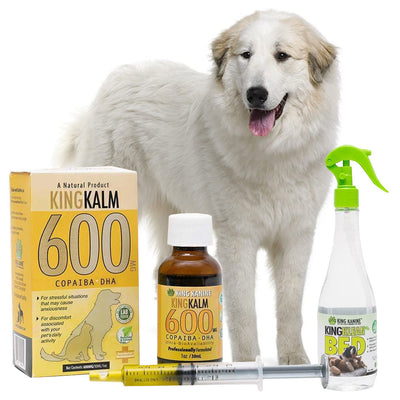 King Kalm 600mg Hemp Oil For Great Pyrenees + FREE Klean Bed Spray