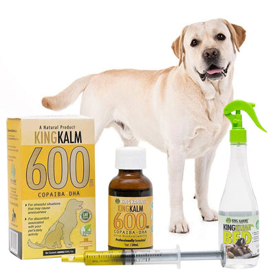King Kalm 600mg Hemp Oil For Labrador Retrievers + FREE Klean Bed Spray