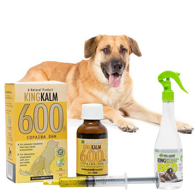 King Kalm 600mg Hemp Oil For Chinooks + FREE Klean Bed Spray