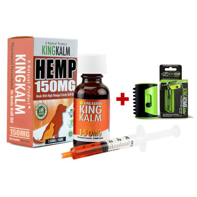 KING KALM™ Hemp 150mg + FREE Mini KOMB