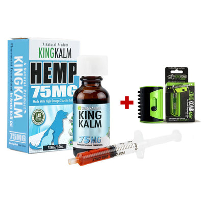 KING KALM™ Hemp 75mg + FREE Mini KOMB
