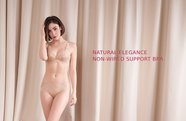 Triumph natural elegance non-wired support bra.