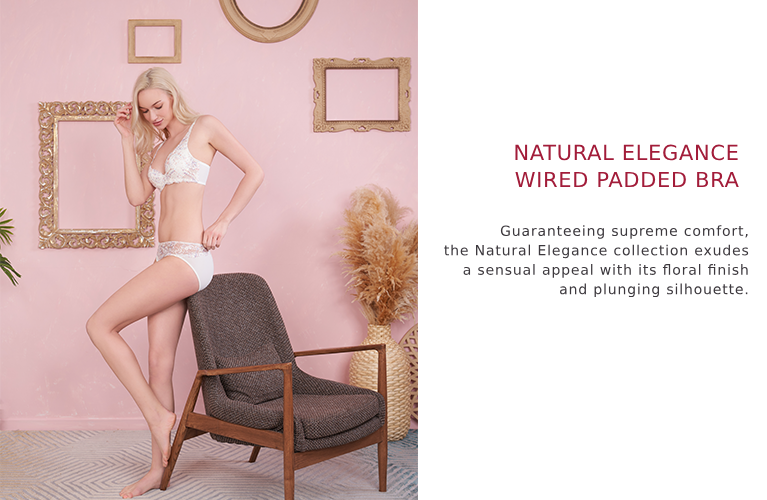 Triumph natural elegance wired padded bra.