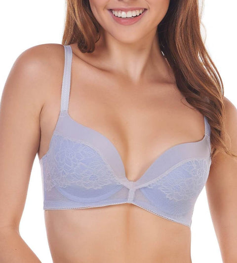 Airy Blossom Wired Push Up Bra - FEATHER