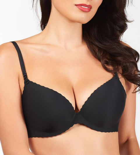 Beautiful Silhouette Wired Push Up Bra - BLACK
