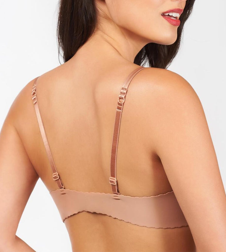 Beautiful Silhouette Wired Push Up Bra - CAFE AU LAIT