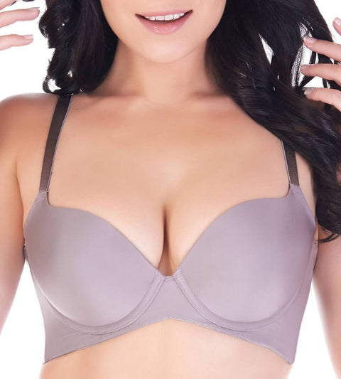 Body Make Up Wired Support Bra - COFFEE SUGAR
