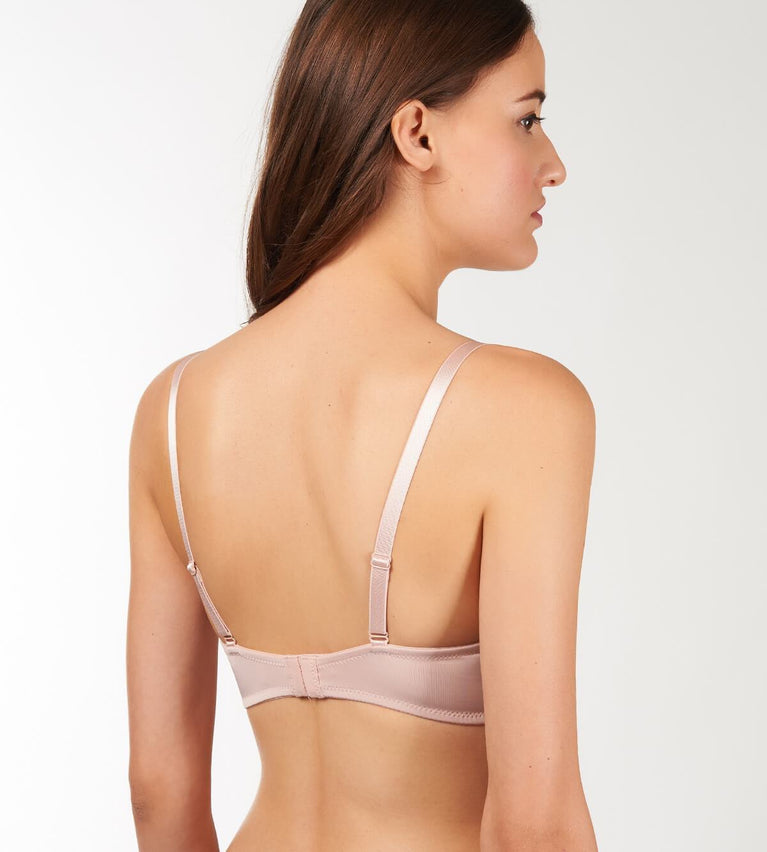 Everyday Basic Wired Padded Bra - FIG PINK