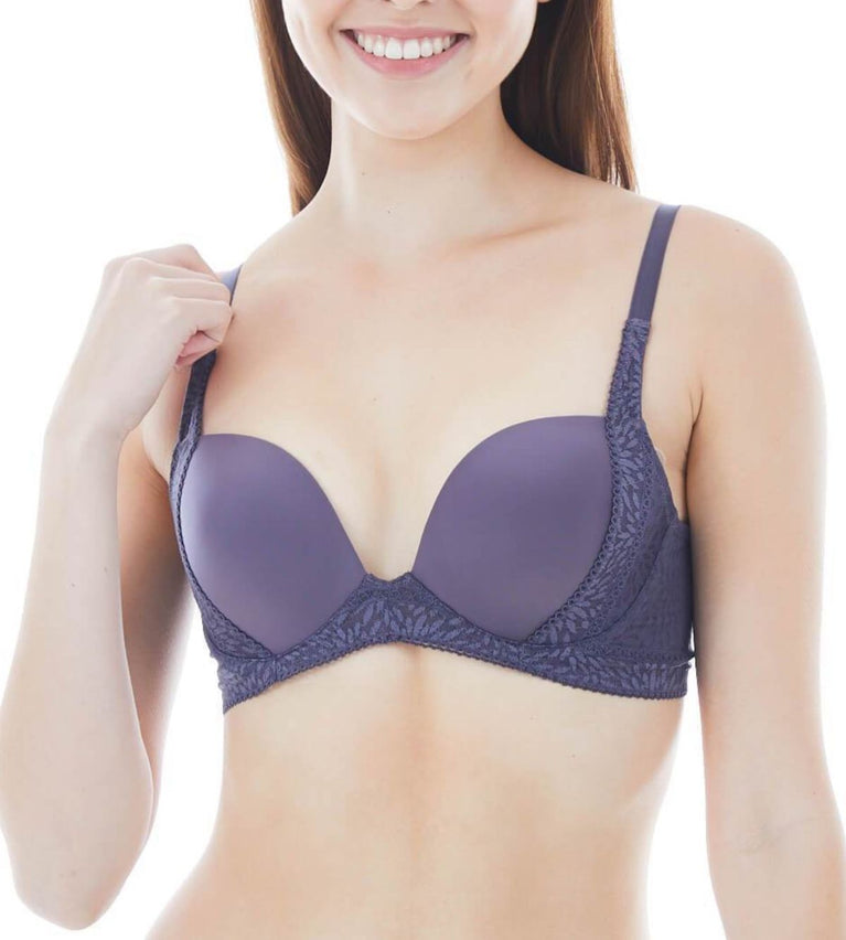 Everyday Romance Non Wired Push Up Bra - PEBBLE GREY