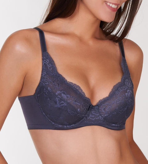 Natural Elegance Non Padded Bra - PEBBLE GREY