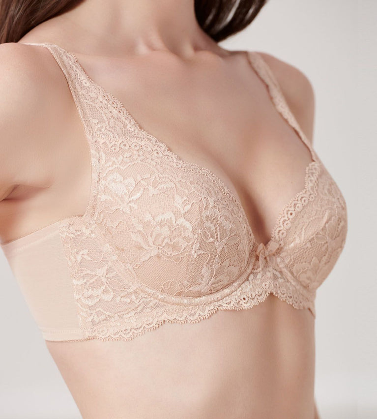 Natural Elegance Wired Padded Bra - NEUTRAL BEIGE