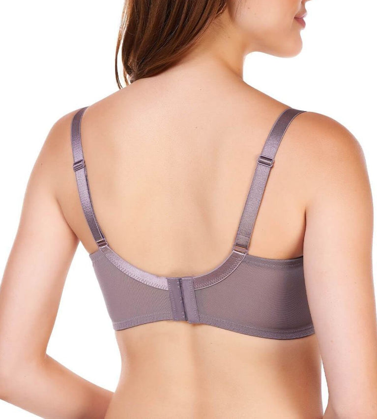 Sculpt Cornflower Wired Support Bra - PIGEON GREY