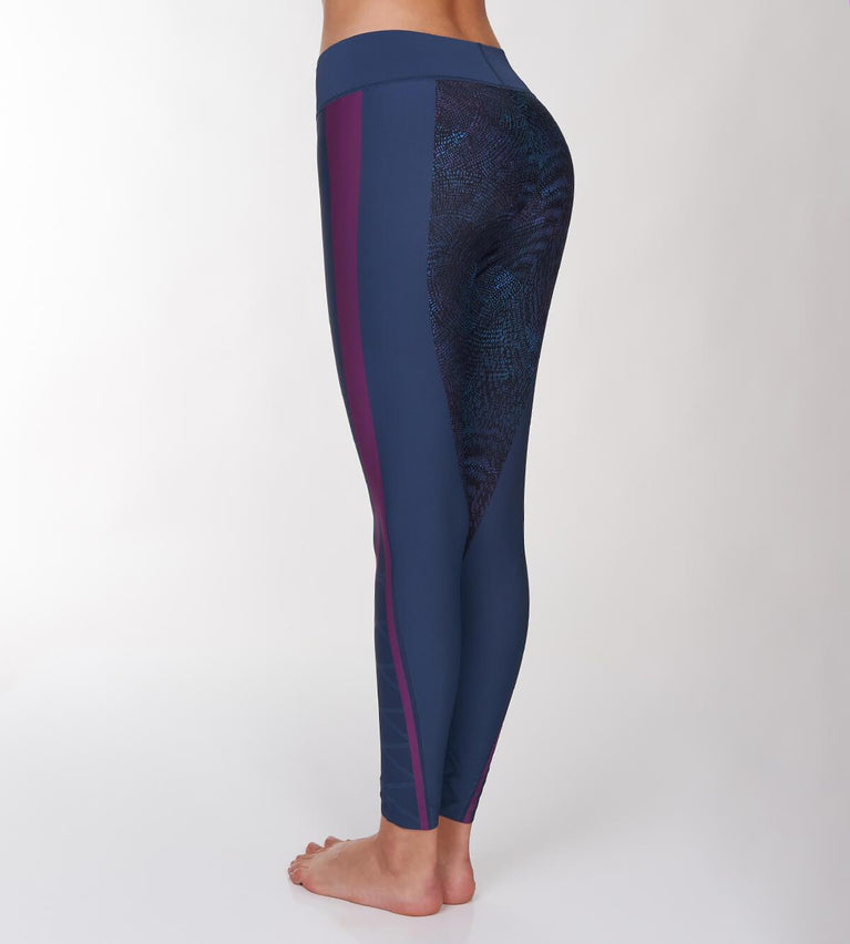 Seamless Motion Sports Leggings - GREEN - DARK COMBINATION