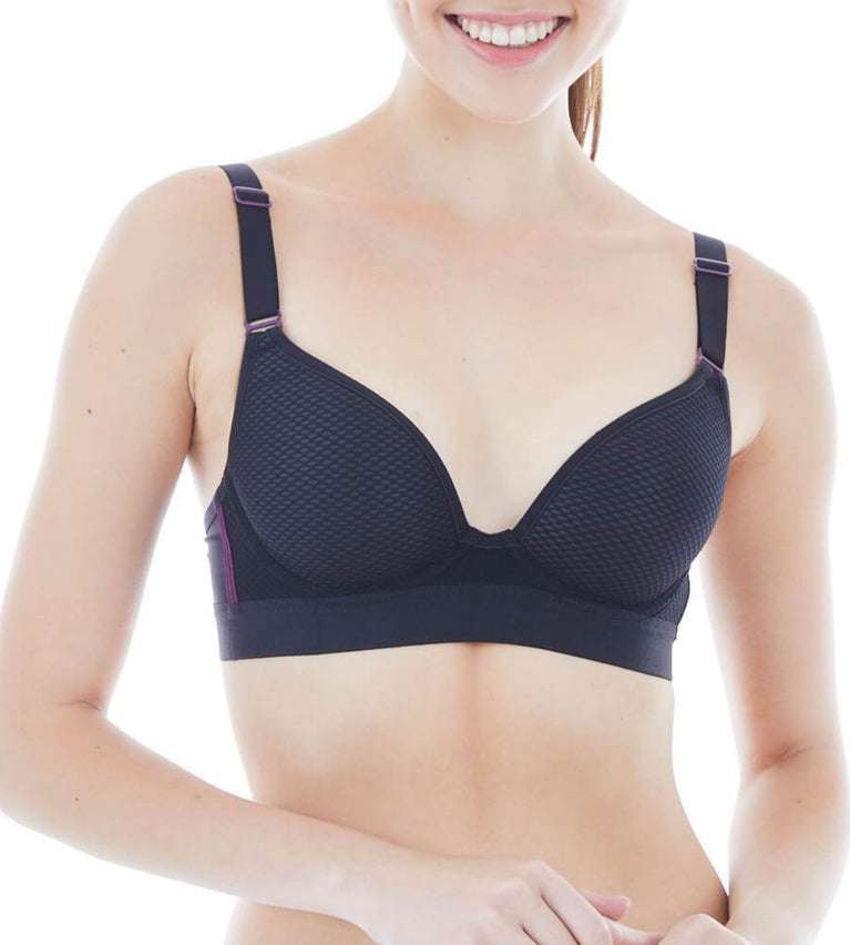 Triaction Free Motion Wired Sports Bra - BLACK