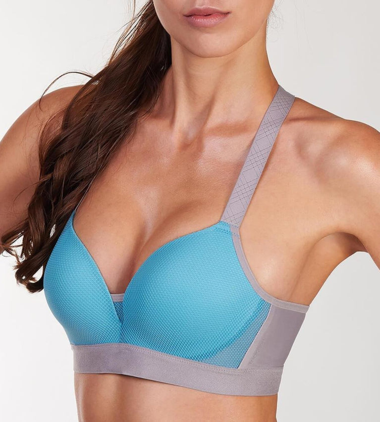 Triaction Magic Motion Wired Padded Sports Bra - GREY COMBINATION
