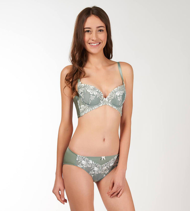 Uplift Butterfly Panty - Midi - GREEN - LIGHT COMBINATION