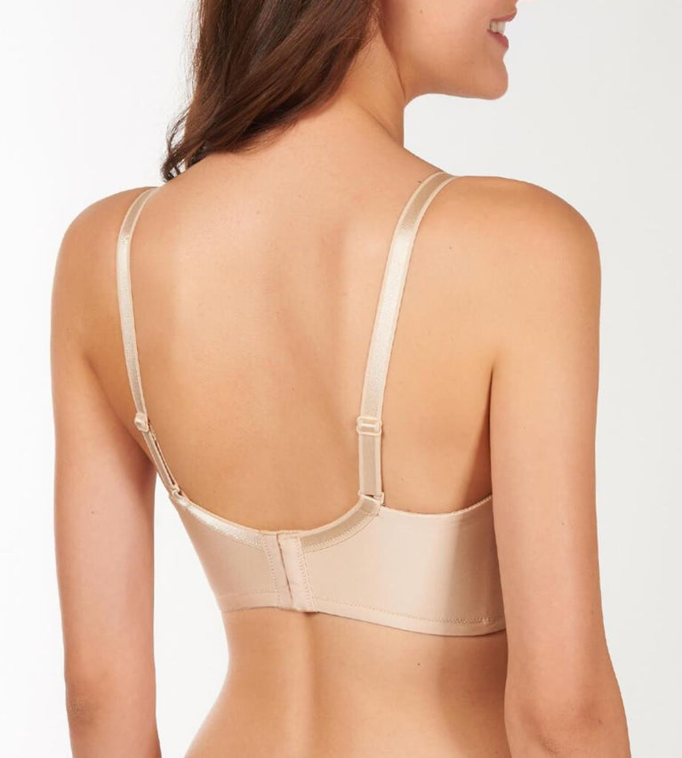 Uplift Butterfly Wired Push Up Support Bra - SKIN - DARK COMBINATION