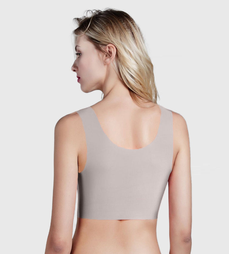 ZERO Feel Non-Wired Bra Top - COFFEE SUGAR