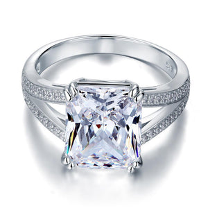 6 Carat Radiant Cut Double Band