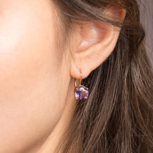 Load image into Gallery viewer, Majestic purple amethyst earrings are the ultimate crowning accessory. Fine jewellery affordably priced.