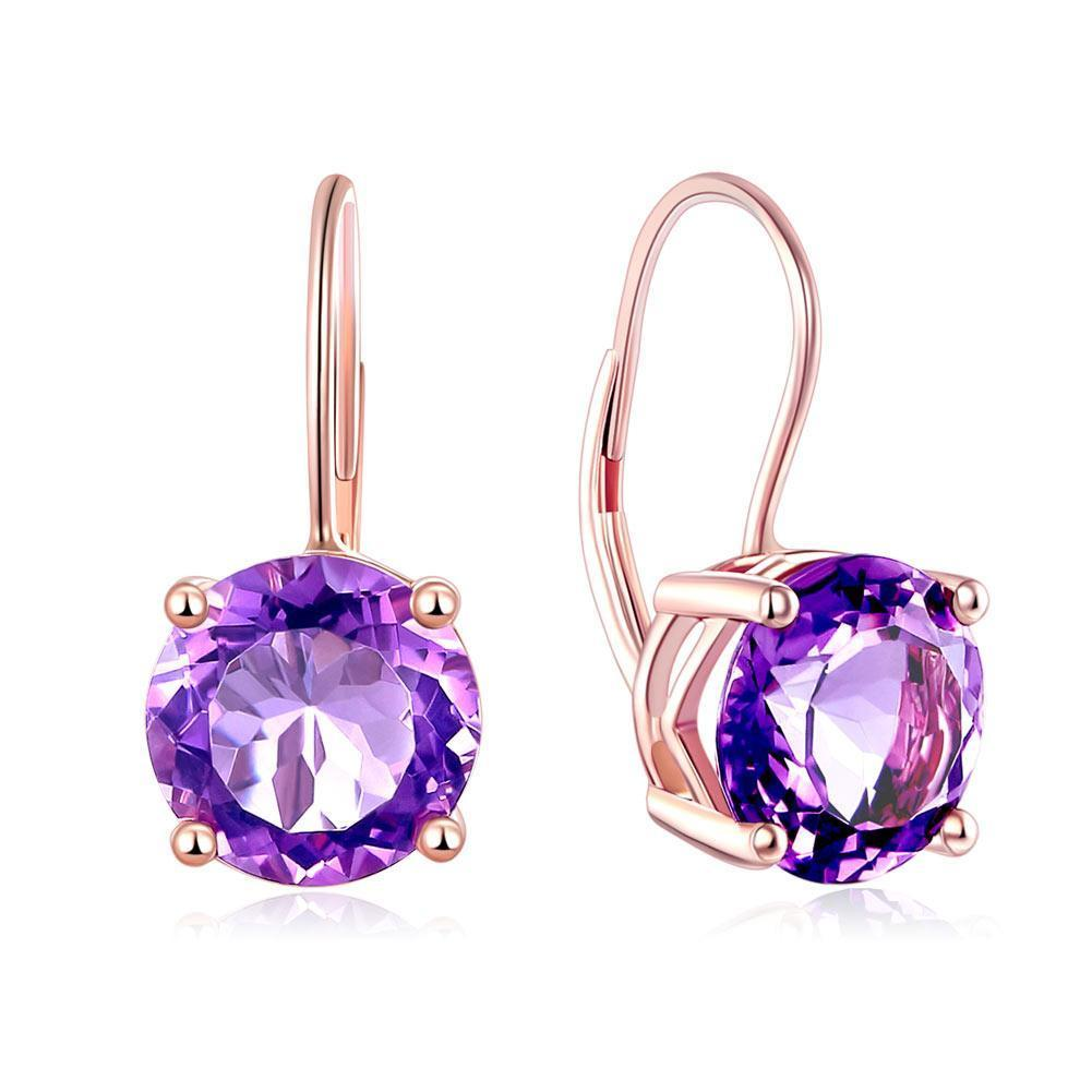 Majestic purple amethyst earrings are the ultimate crowning accessory. Fine jewellery affordably priced.