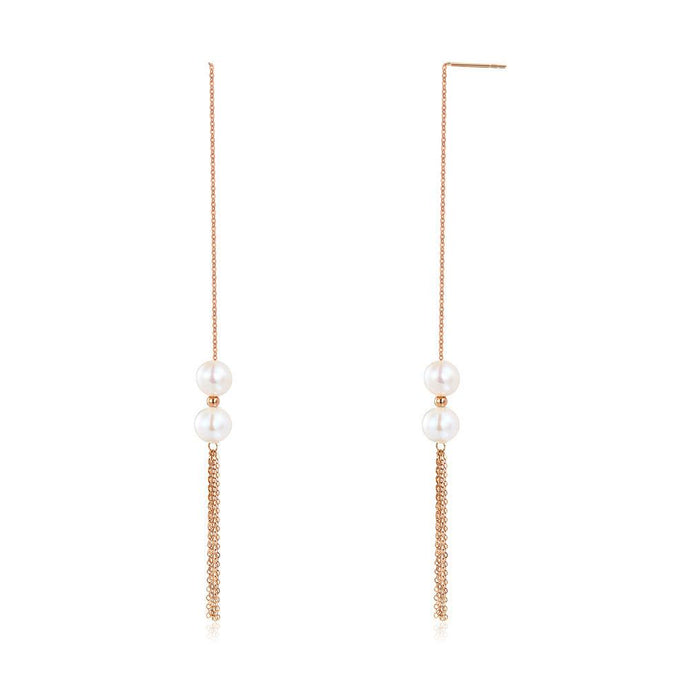 Double Drop Pearl Earrings