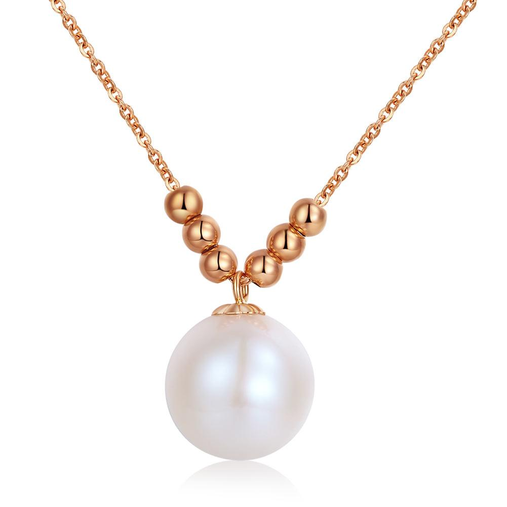 Gold Ball Pearl Necklace