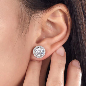 Abilene Round Cut Earrings