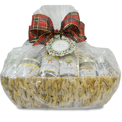 Christmas Honey Basket Wicker