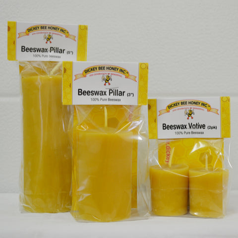 Beeswax Votives & Pillars