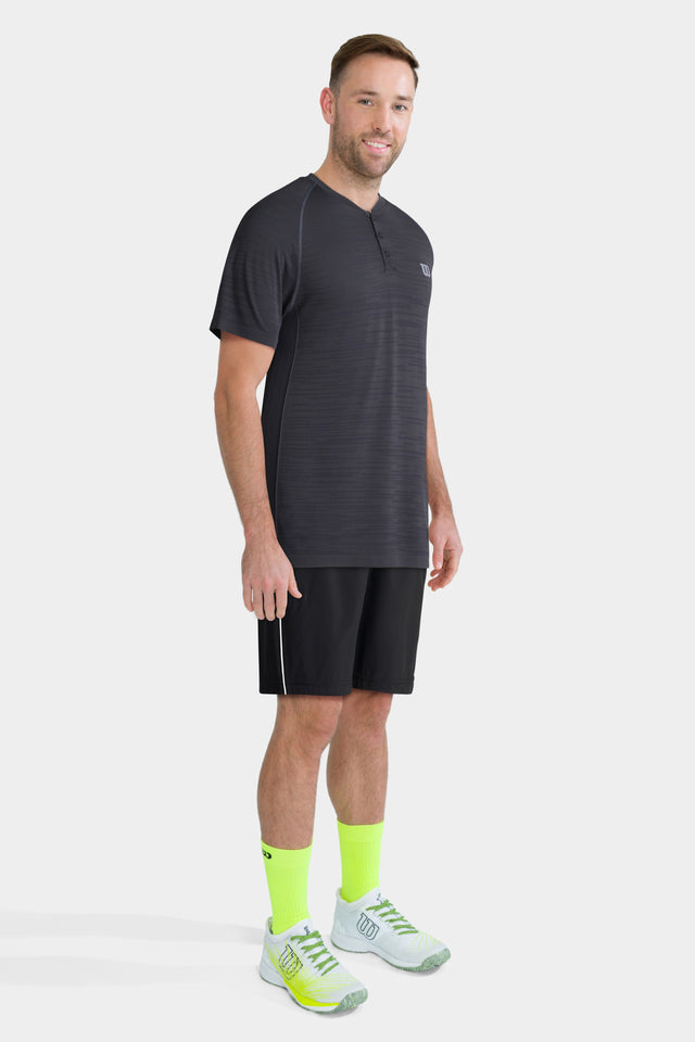 Men's Competition Seamless Henley Crew