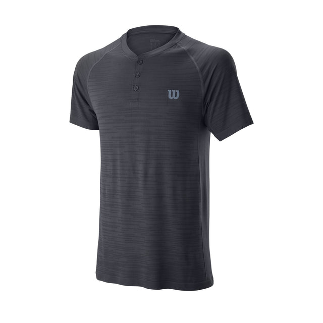 Men's Competition Seamless Henley Crew - Grey