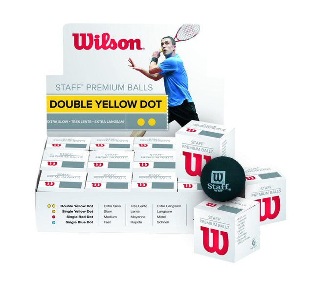 Staff Squash Ball - Double Dot
