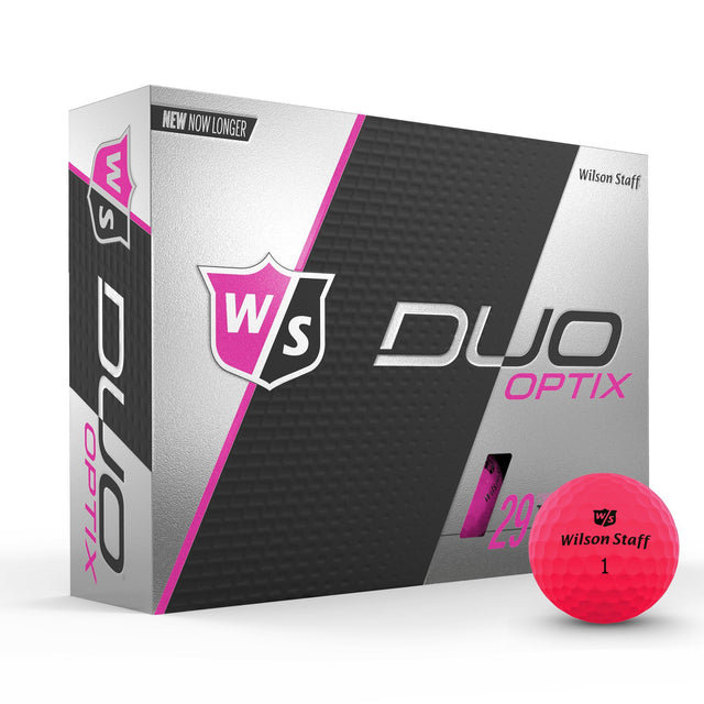 Staff Duo Soft Golf Ball - Optix Pink