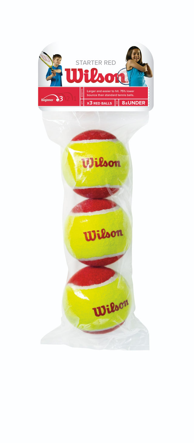 Starter Red Ball Tennis Balls - 3 ball pack