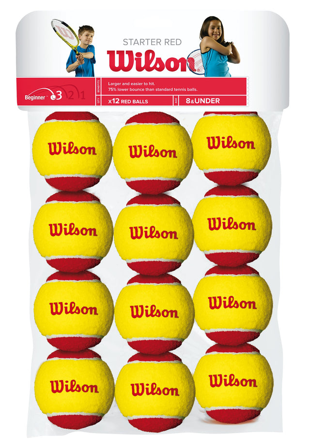 Starter Red Ball Tennis Balls - 12 ball pack