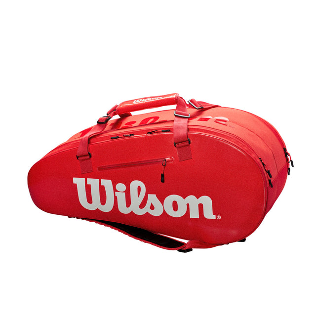 Super Tour 2 Compartment 9Pk Tennis Bag - Red