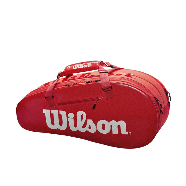 Super Tour 2 Compartment 6Pk Tennis Bag - Red