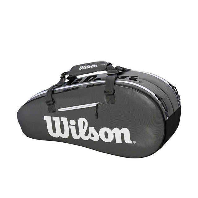 Super Tour 2 Compartment 6Pk Tennis Bag - Black/Grey