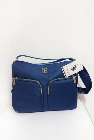 Borsa Shopping due Tasche blu