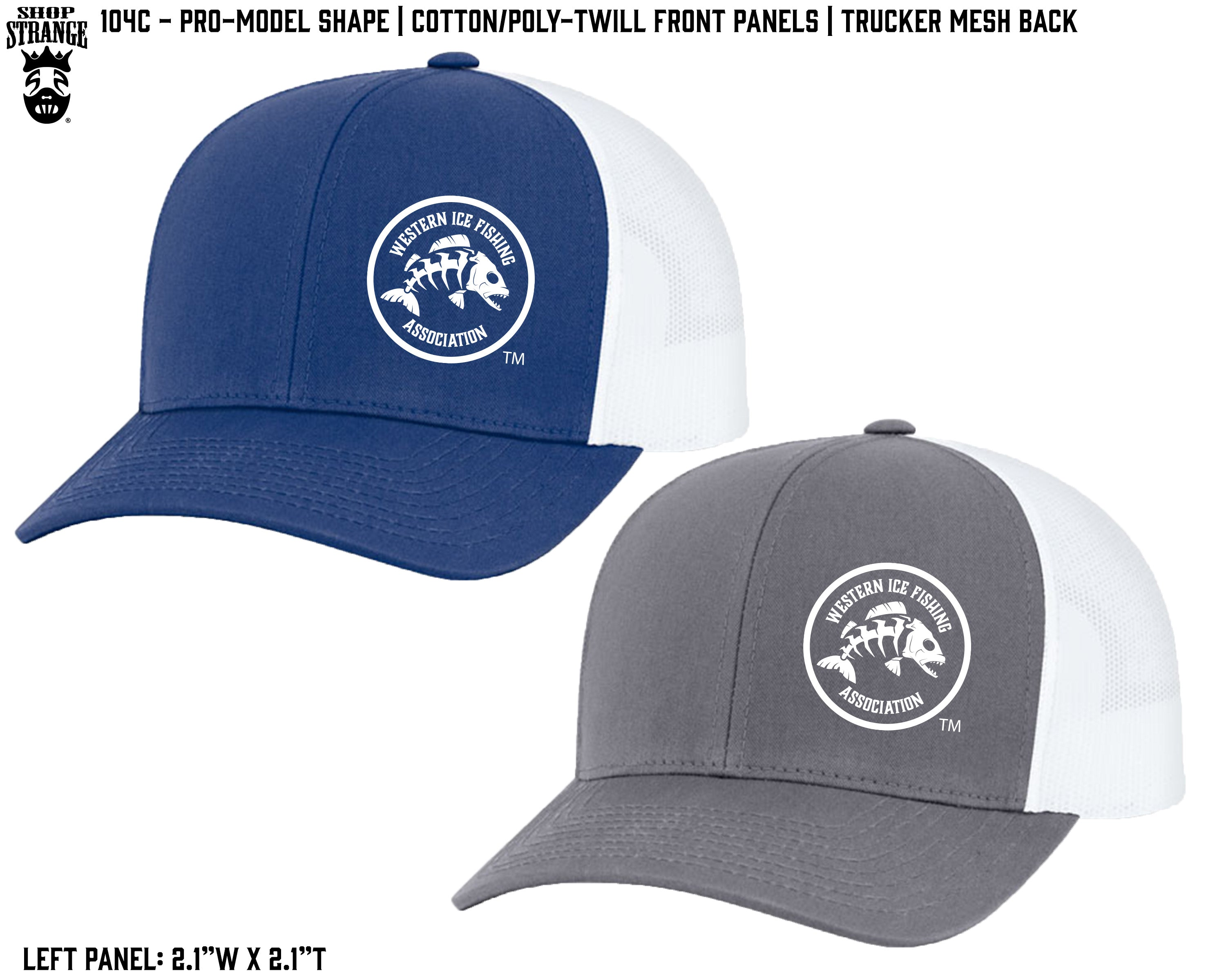 3ccdf529 Trucker Mesh Cap Embroidery Logo – Western Fishing Store