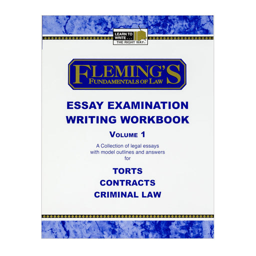 Essay Exam Writing Workbook - Volume 1