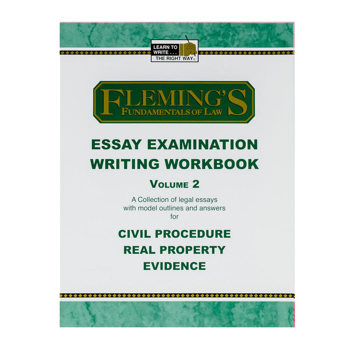 Essay Exam Writing Workbook - Volume 2