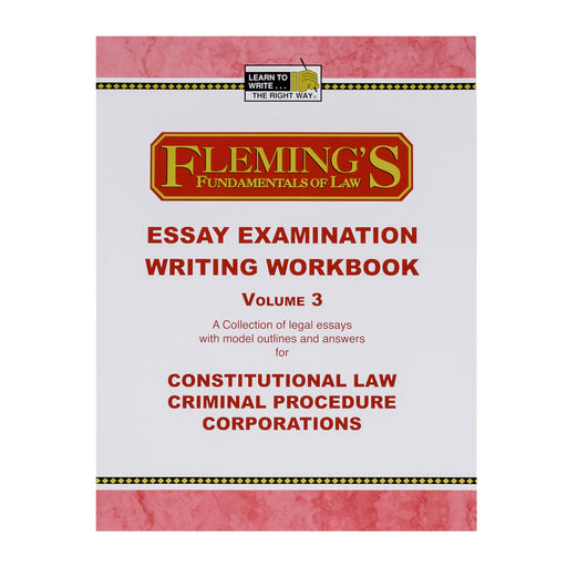 Essay Exam Writing Workbook - Volume 3