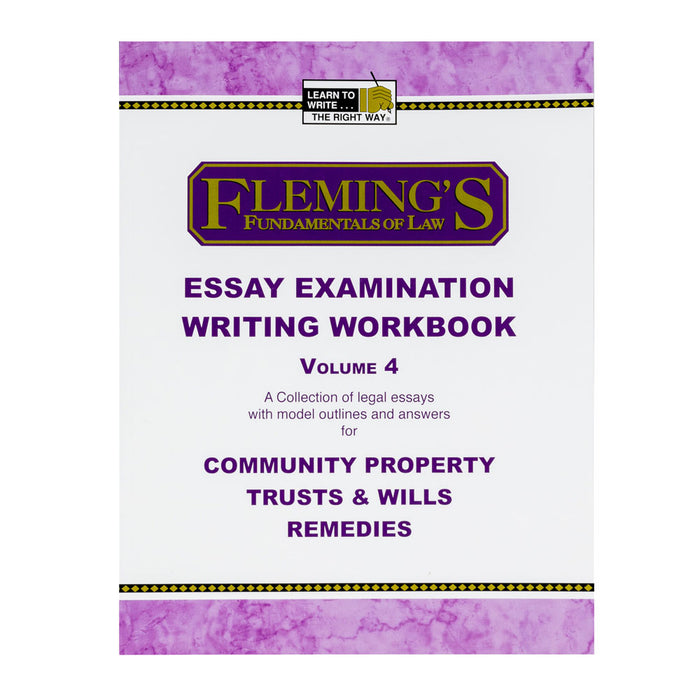 Essay Exam Writing Workbook - Volume 4