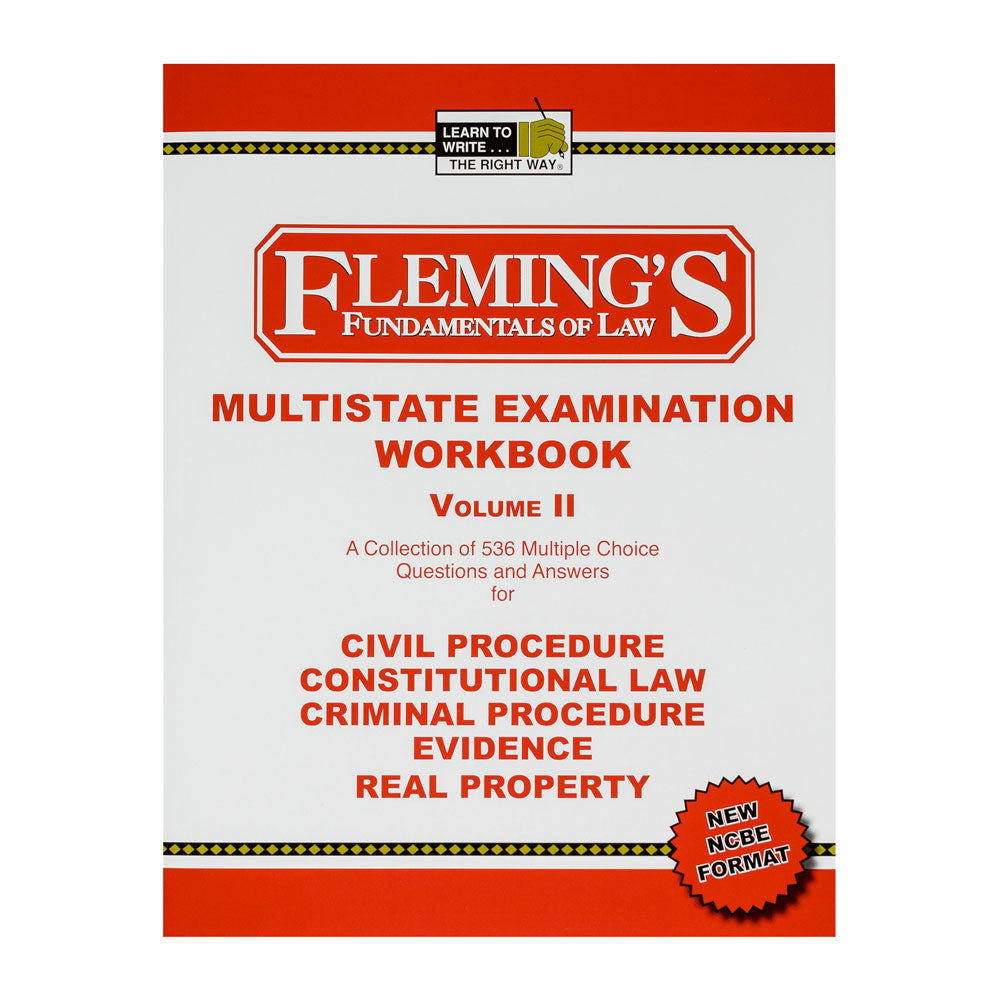 Multistate Examination Workbook - Volume 2