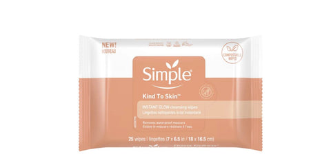 Simple Skincare Instant Glow and Defend Wipes