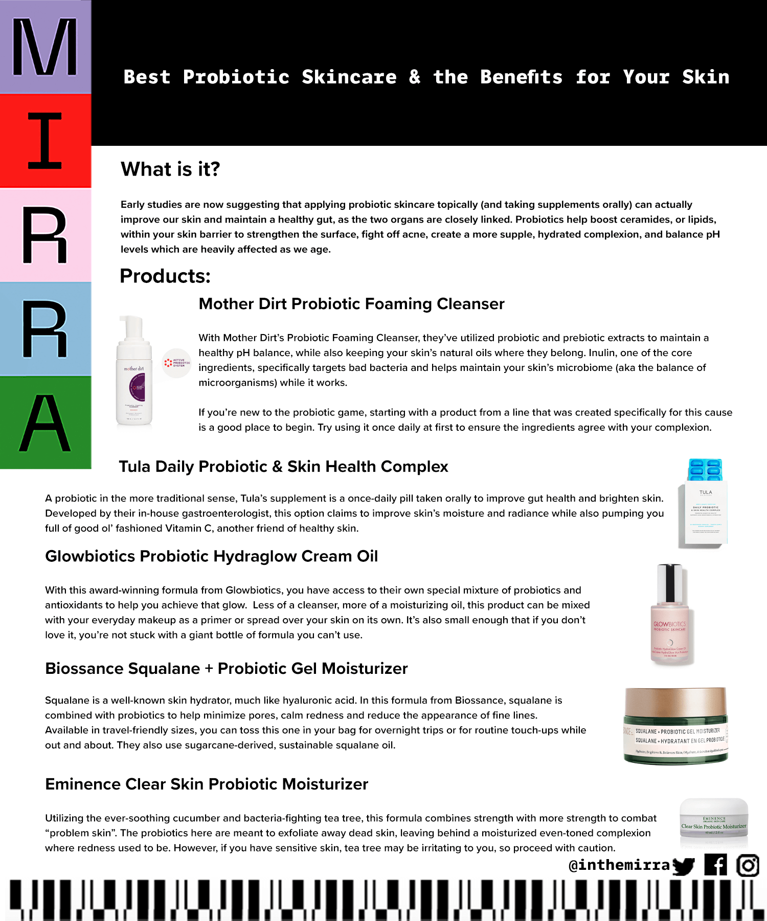 Best Probiotic Skincare & the Benefits for Your Skin Mirra skincare