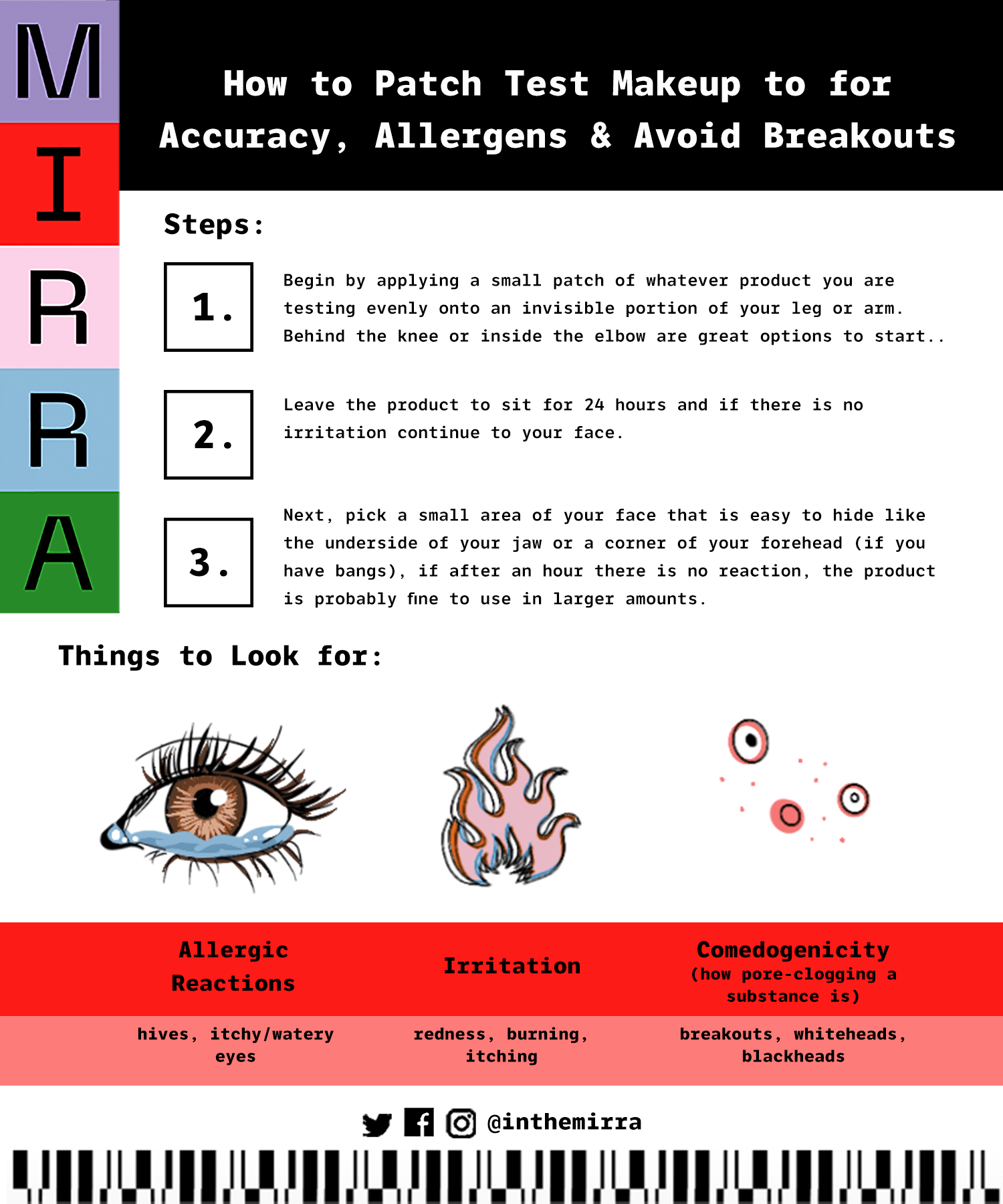 How to Patch Test Makeup to for Accuracy, Allergens & Avoid Breakouts | Mirra Skincare